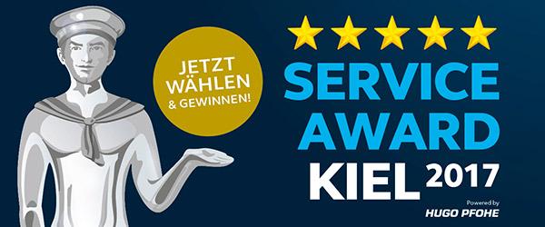 Service-Award Kiel 2017 | Wählen Sie uns!